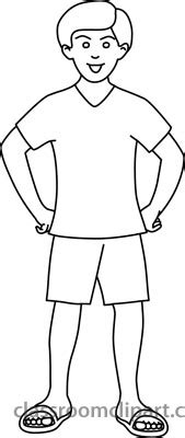 Boy Outline Clipart Outline Of A Boy And Coloring Pages