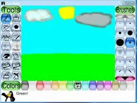 tux paint to play tux paint demo
