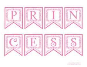 free pink princess printable banner pinkprincess