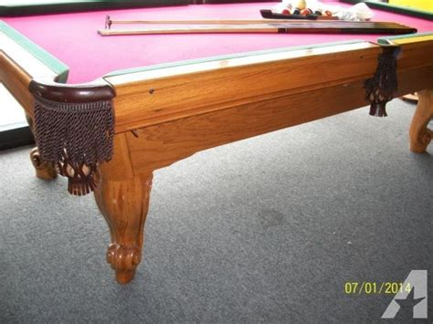 8 solid oak amf playmaster pool table for sale in