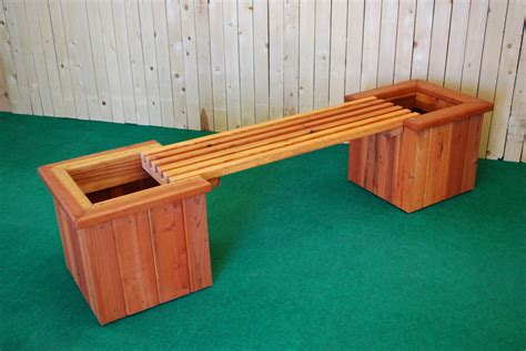 planter box bench pl box straight planter and bench the redwood store