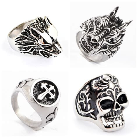 Silver Rings Designs For by Blue Silver Ring Designs For Ring Skull