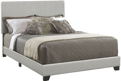 grey upholstered king bed dorian grey king upholstered platform bed 300763ke