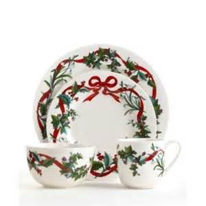 Dinnerware for the holidays adds a nice touch to your holiday table