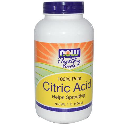 now foods citric acid 100 pure powder 1 lb 454 g iherb com