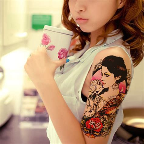 1pcs beauty fake tattoo for women sticker on the body art