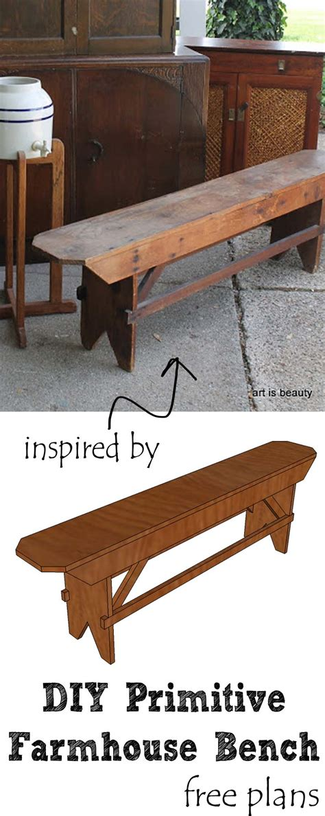 long primitive simple farm bench remodelaholic how to build a primitive farmhouse bench