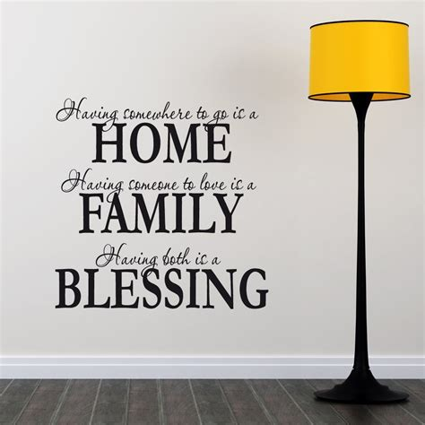 wall sticker quotes uk home family blessing wall sticker quote wall chimp uk