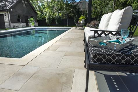 Natural Stone modern pool deck and Patio   Photos