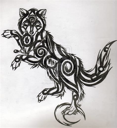 cute tribal tattoo designs black tribal wolf design