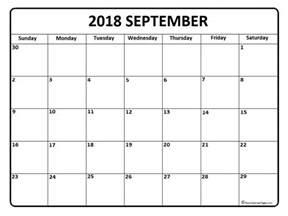 Kalender 2018 August September September 2018 Calendar September 2018 Calendar Printable