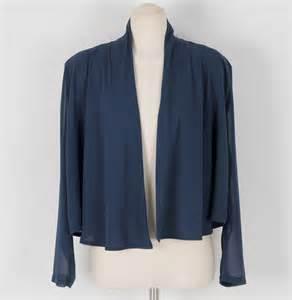 navy chiffon jacket for summer korean fashion
