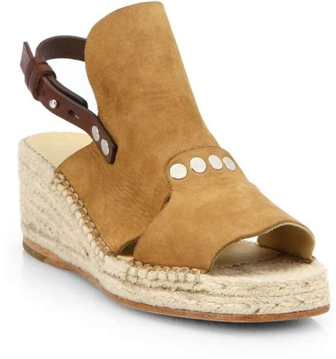 bone wedge sandals rag bone sayre suede espadrille wedge sandals in beige