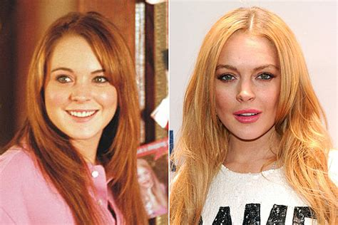 Linday Lohan And Are Terrible Actors by Lindsay Lohan Then And Now Www Pixshark Images
