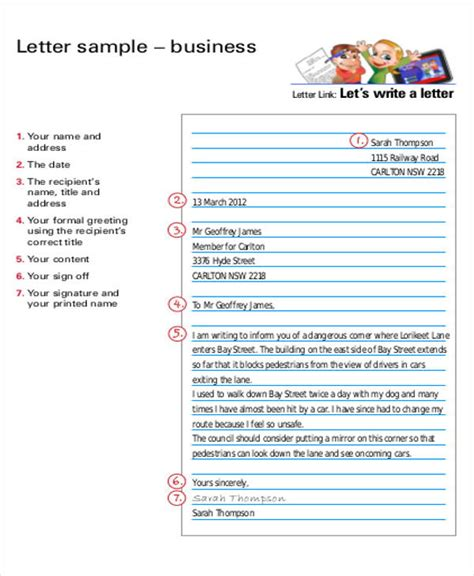 Business Letter Diagram Sle Business Letter Layout 8 Exles In Word Pdf
