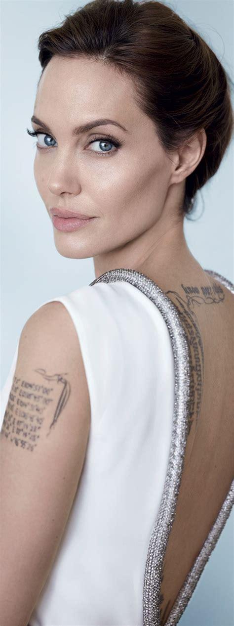 angelina jolie tattoo blut und eisen angelina jolie by mario testino vanity fair december