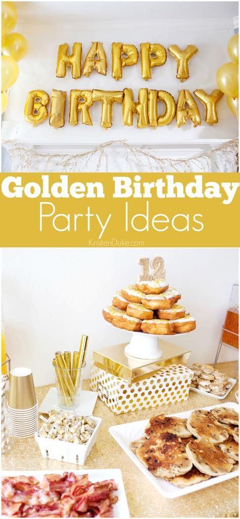 themes golden golden birthday party