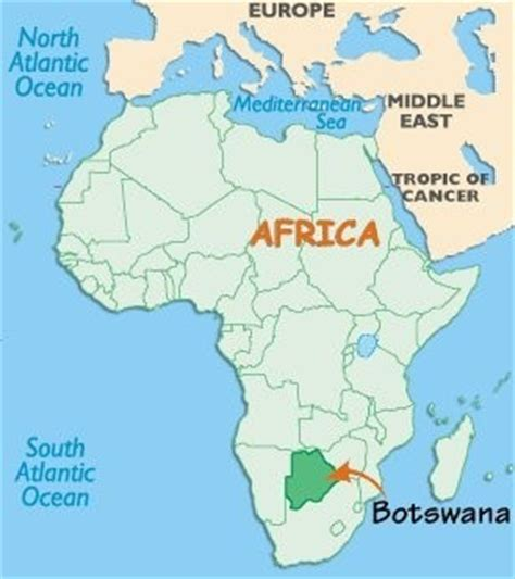 africa map botswana botswana africa international service learning program