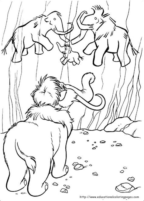 Ice Age Educational Fun Kids Coloring Pages And Age Coloring Page