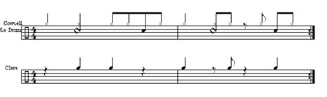 drum clave pattern 2 3 clave