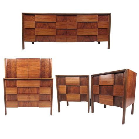 Mid Century Bedroom Set by Mid Century Modern Quot Checkerboard Quot Bedroom Set By Edmond