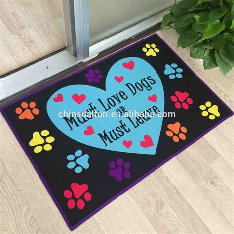 Paw Cleaner Mat by Floor Protection Paw Print Paw Cleaning Mat Buy