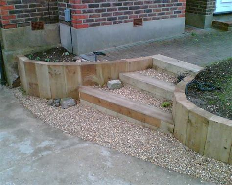 Sleepers Garden Ideas Railway Sleepers