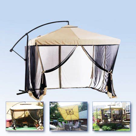 gazebo umbrella apontus offset patio umbrella instant gazebo with mesh