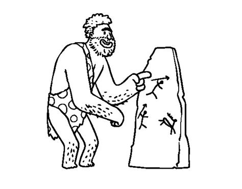 cave art coloring page prehistoric man cave paintings coloring page