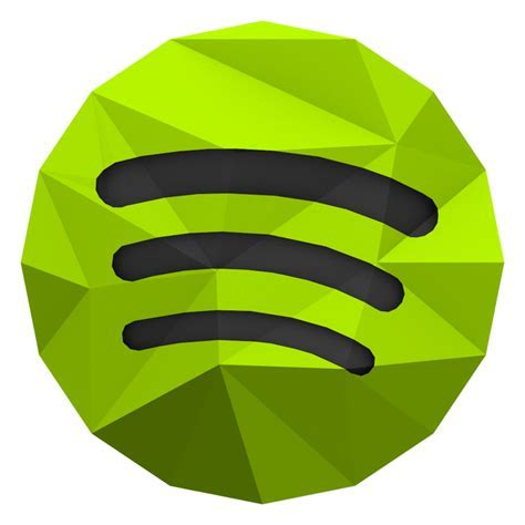 Low poly Spotify Icon by BenWurth on DeviantArt