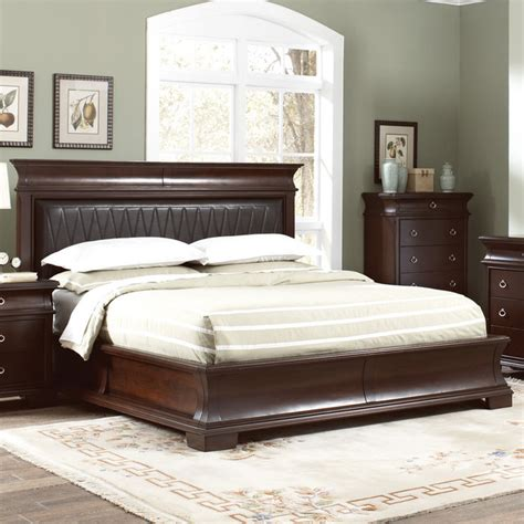 kurtis california king bed in walnut brown finish