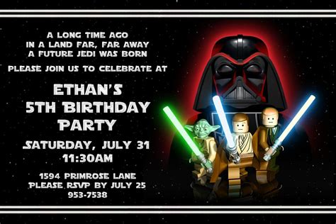 printable lego star wars invitations free printable star wars lego birthday invitations