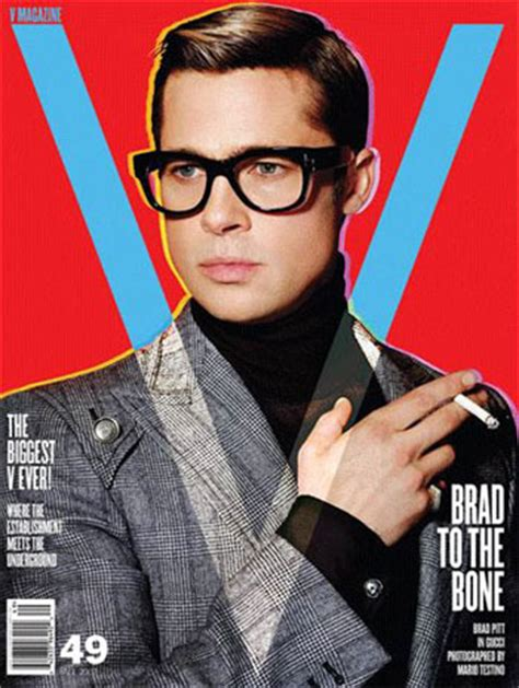Brad Pitt V Magazine by Brad Pitt Photo 57862 Coolspotters