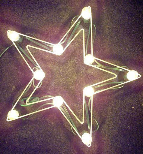 vintage noma christmas lights outdoor lighted wire frame star