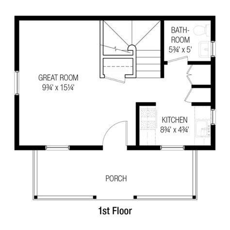 750 square feet floor plan cottage style house plan 2 beds 1 5 baths 750 sq ft plan
