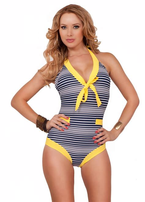 Retro Inspired Bikinis by Retro Pin Up Style Vintage Inspired Sailor Halter One