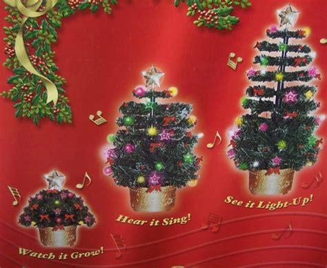 magic growing christmas tree sings lights up 2 foot tall