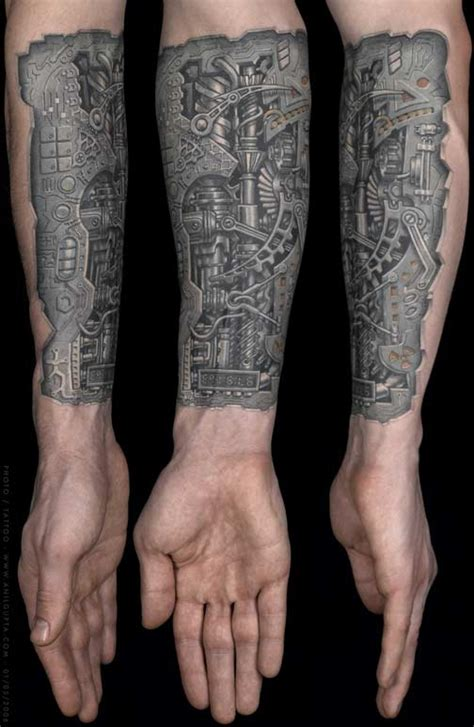 biomechanical tattoo mechanic biomechanical tattoos
