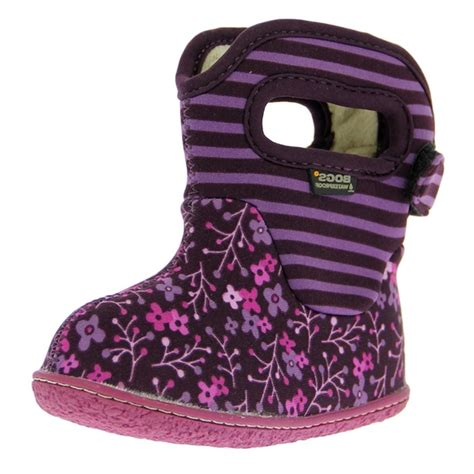 bogs muck boots baby classic flower stripe wp rubber