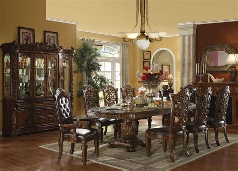 elegant formal dining room furniture dark cherry finish