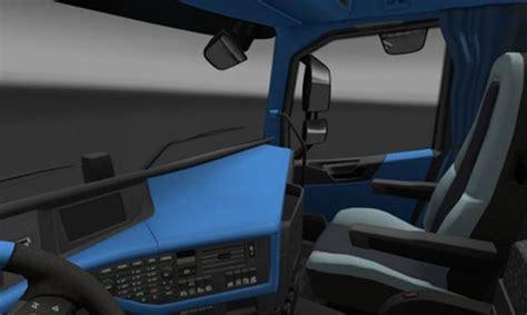 volvo 2012 black orange interior ets 2 mods volvo fh 2012 blue interior euro truck simulator 2 mod