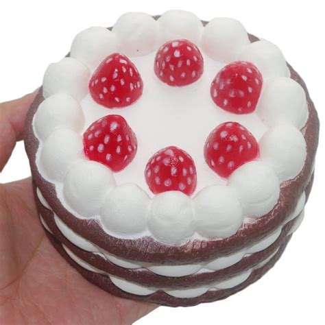 Squishy Vlo Strawberry Cake Original squishy strawberry cake stress relief toys scented rising squeeze ebay