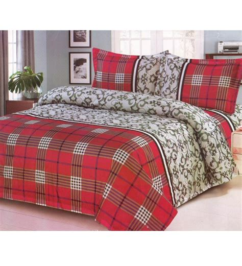 Pattern Bed Sheets by Sai Arpan Checkered Pattern Bedsheet Set By Sai