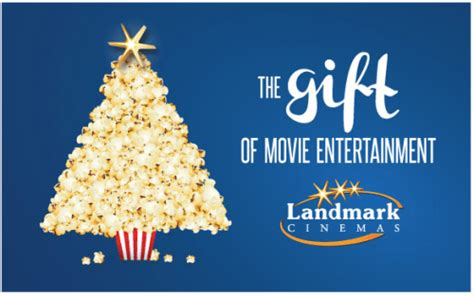 Landmark Cinema Gift Cards Canada - landmark cinemas canada deals buy a 30 gift card and receive free coupons worth 30