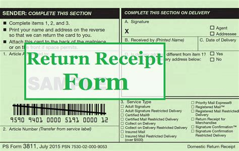 Usps Certified Mail Receipt Template by Certified Letter Return Receipt For Merchandise The Best