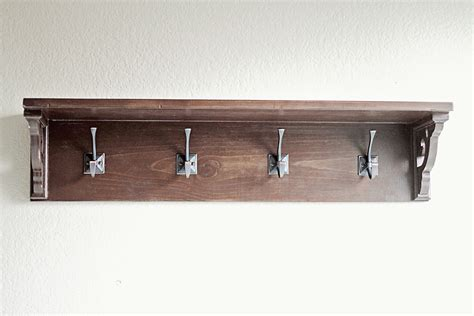 wall shelf with hooks best home decor ideas simple but