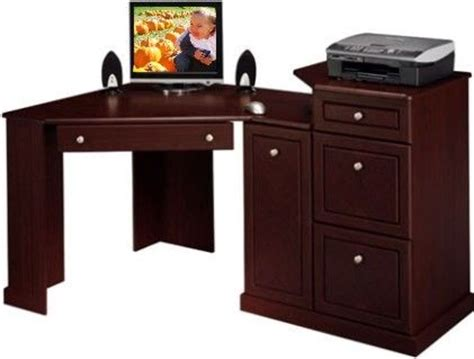 Small Corner Desk With Drawers Bush Hm26610 03 Birmingham Corner Desk Pencil Drawer Drops To Reveal A Keyboard Shelf