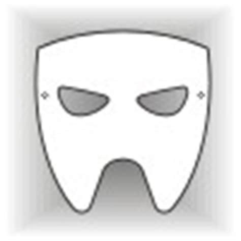 half mask printable template half mask template