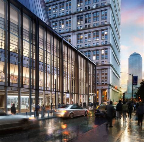 dbox rendering fulton street transit center by grimshaw architects dbox