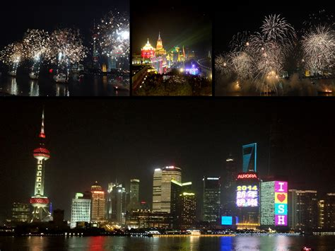 new year fireworks in shanghai somewhere the rainbow shanghai s nanpu bridge